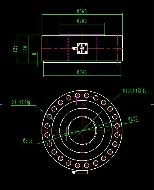 试验机传感器图纸